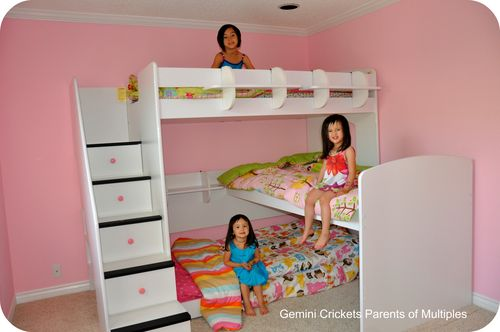 we the trifecta loft bed for three mad about multiples